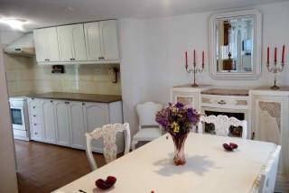 villa melodia mantalena villas kitchen with dining room